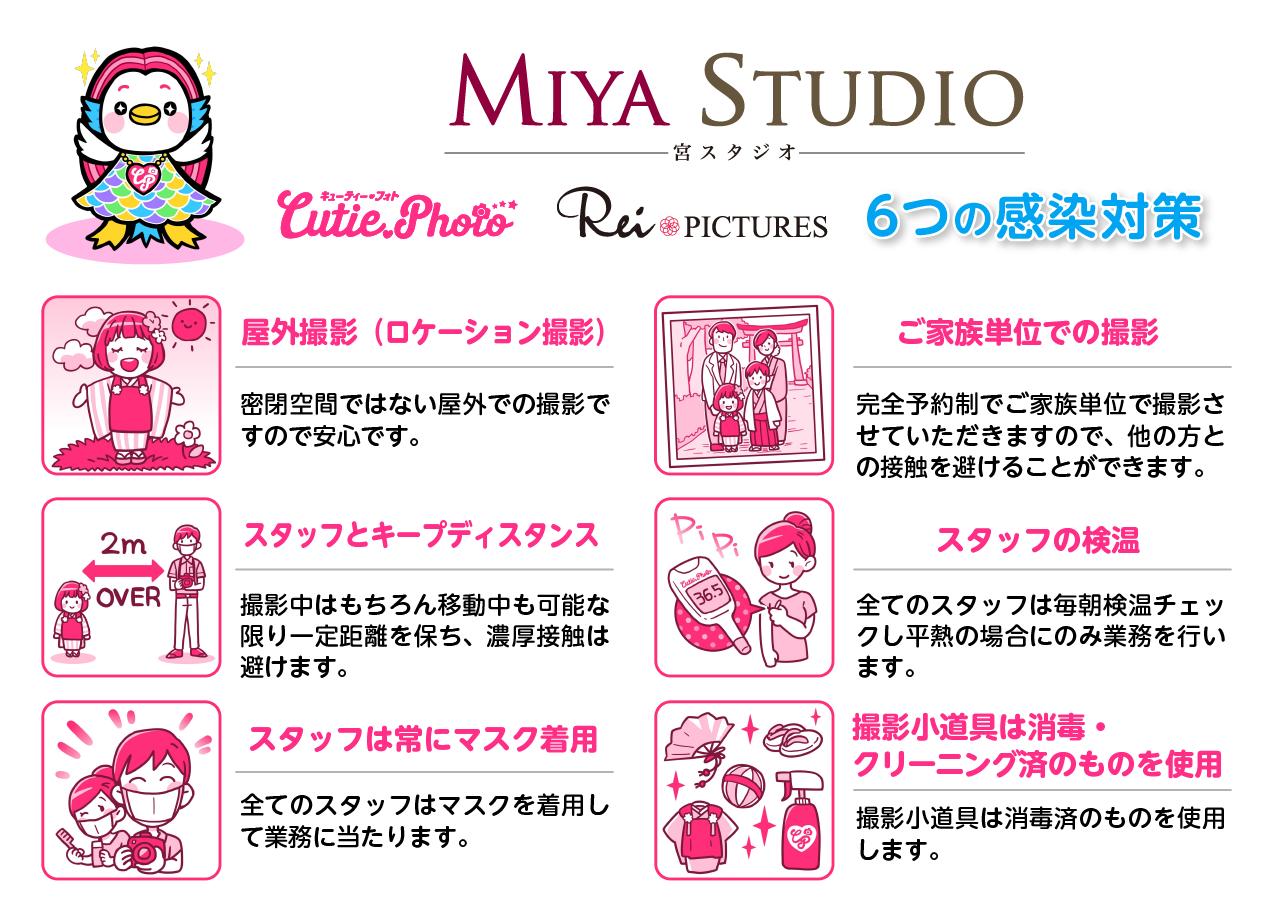 MIYA STUDIO & Cutie Photoの感染対策